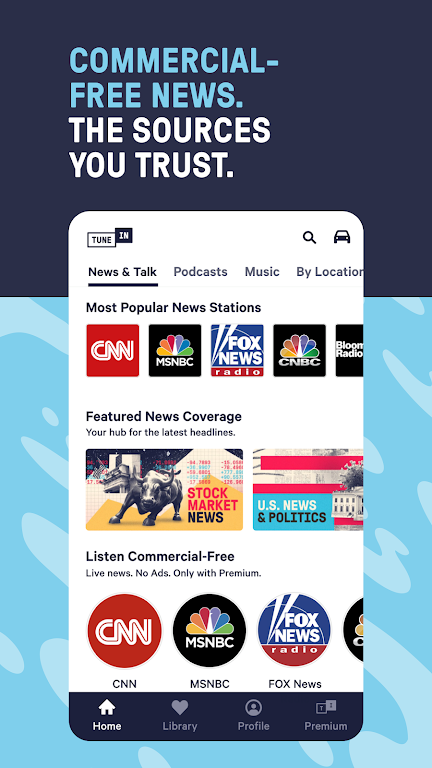 TuneIn Pro: Live Sports, News, Music & Podcasts poster 2