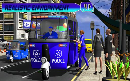 Police Tuk Tuk Auto Rickshaw Driving Game 2020 modavailable screenshots 6