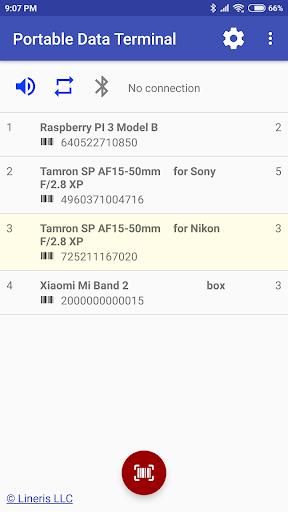 wireless bluetooth barode scanner & data collector screenshot 1
