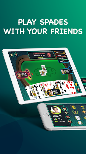 Spades - Play Free Online Spades Multiplayer apkpoly screenshots 17