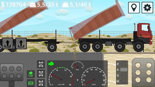 Mini Trucker – 2D offroad truck simulator MOD APK 1.6.0 (Purchase Free) 6