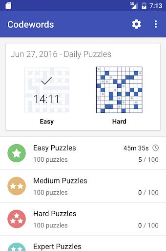 Codeword Puzzles (Crosswords)  screenshots 3