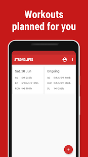 Stronglifts 5x5 - Weight Lifting & Gym Workout Log