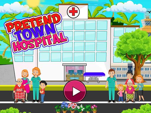 Télécharger Faire semblant à l'hôpital de la ville: jeu de la apk mod screenshots 1