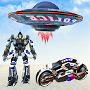 Us Police Bike Transform Robot Game
