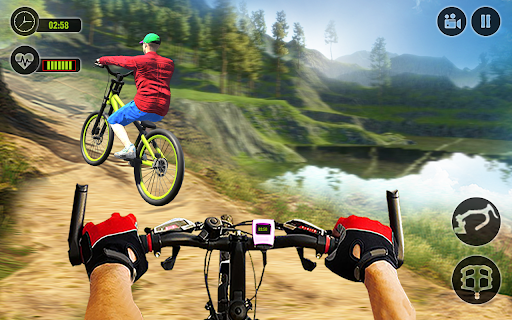 Offroad BMX Rider: Mountain Bike Game  screenshots 1