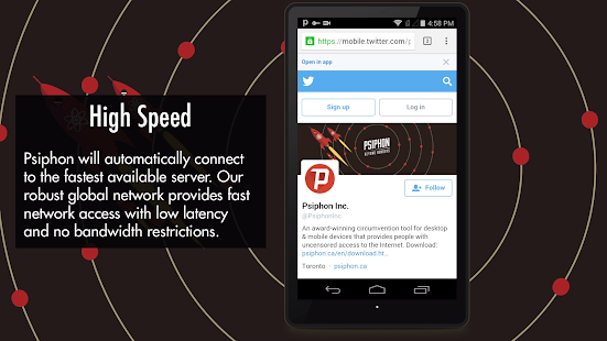 Psiphon Pro - The Internet Freedom VPN Screenshot