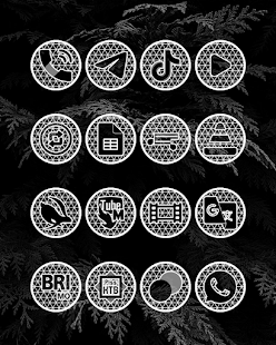 Pixel Net White - Schermata del pacchetto di icone