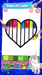 Glitter Heart Love Coloring Book for Girls