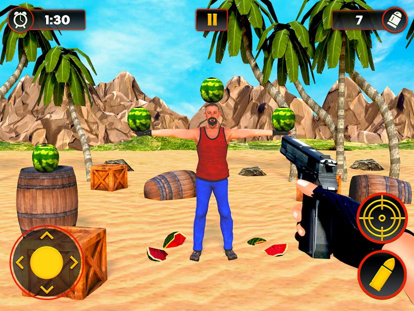 Captura de Pantalla 8 de Sandía Shooter Juego - Fruta del tiroteo para android