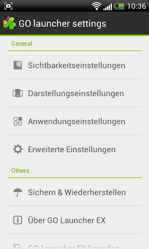 GO LauncherEX German language 1.02 screenshots 2