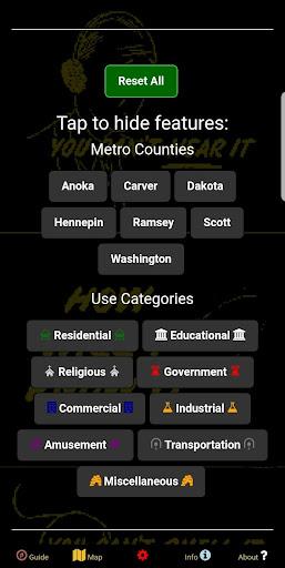Fallout Shelters Data Map - Twin Cities, Minnesota  screenshots 2