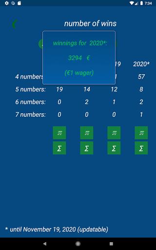 Keno FR combination statistics  screenshots 10
