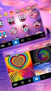 Sunset Sea Dolphin Keyboard Theme 4