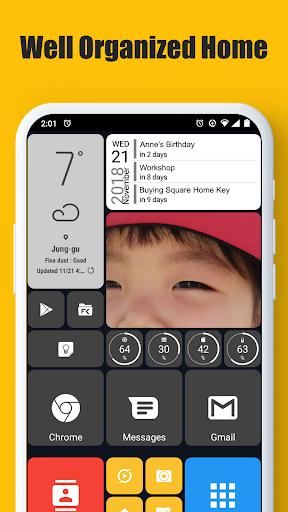 Square Home - Launcher : Windows style 2.1.14 Screenshots 1