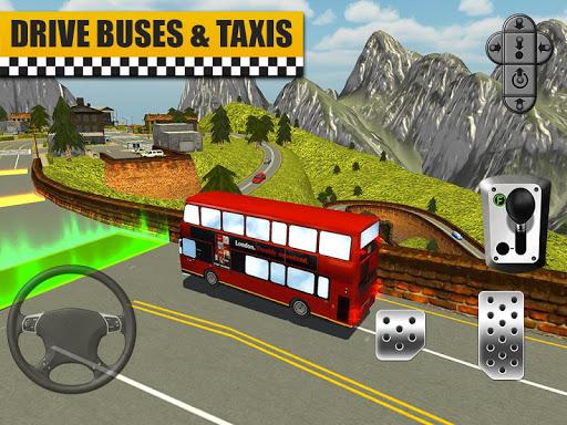 Bus & Taxi Driving Simulator  screenshots 13