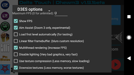 Delta Touch [7 x Doom engine source port]  screenshots 16
