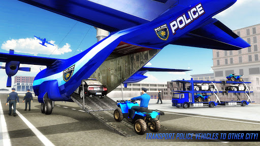 US Police ATV Quad Bike Plane Transport Game 1.4 Screenshots 2