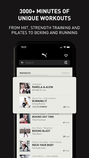 PUMATRAC Home Workouts, Training, Running, Fitness 4.16.1 Screenshots 8
