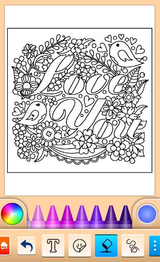 Valentines love coloring book  screenshots 17