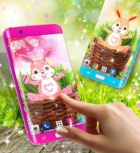 Cute bunny live wallpaper for android modavailable screenshots 2