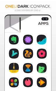 ONE UI DARK Icon Pack : S10 v3.1 [Patched] 4