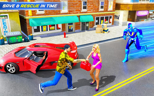 Grand Police Robot Speed Hero City Cop Robot Games 19 screenshots 8