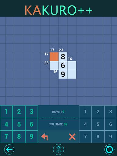 Kakuro Plus. Cross-Sums. For beginners to experts. 1.6.0 screenshots 13