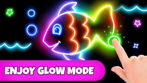 Coloring Games: Coloring Book, Painting, Glow Draw  screenshots 2