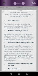 Page-a-Day calendar, holidays, history trivia quiz