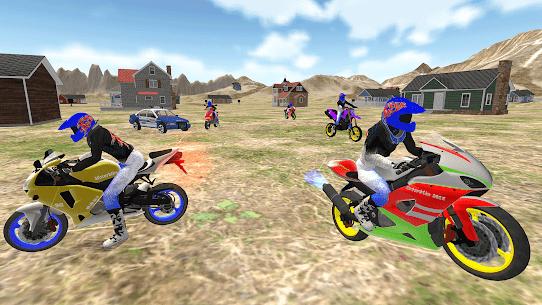Gerçek motorsiklet yarışı-polis oyunu 2019 Apk Son Sürüm 2021 4