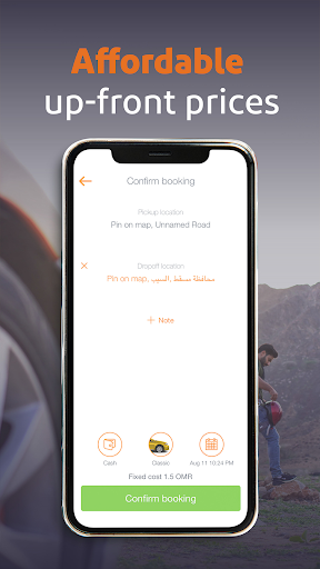 OTaxi Oman Taxi Booking App 0.34.11-ANTHELION screenshots 4