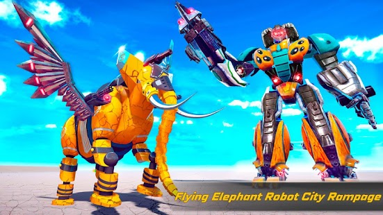 Flying Elephant Robot Car Transform: Robot War Screenshot