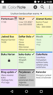 ColorNote Catatan Notepad Note Screenshot