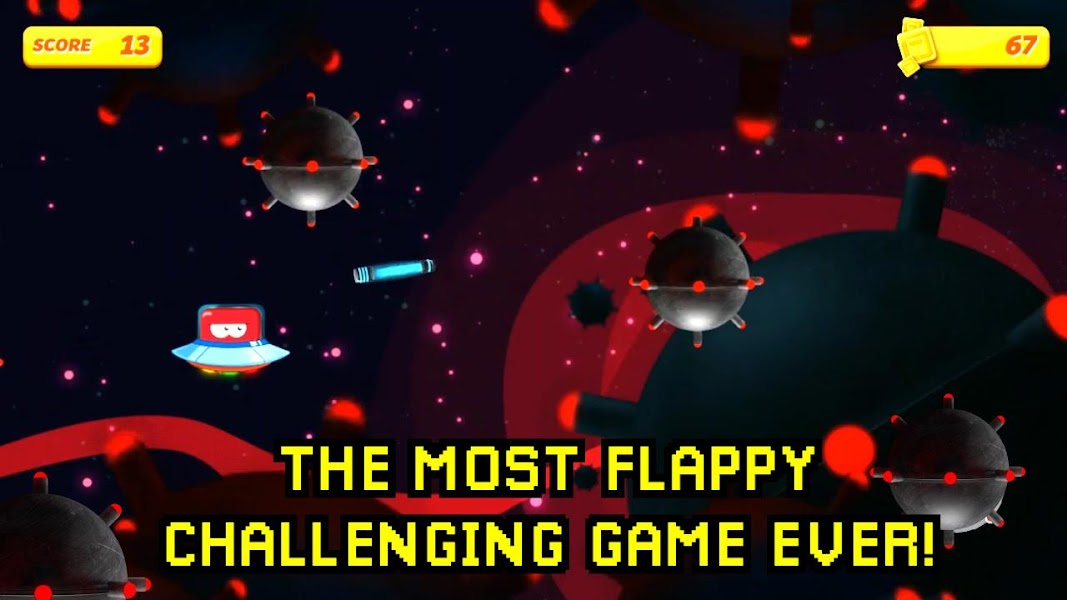 Rebounce and don´t crush! in this Flappy Galaxy