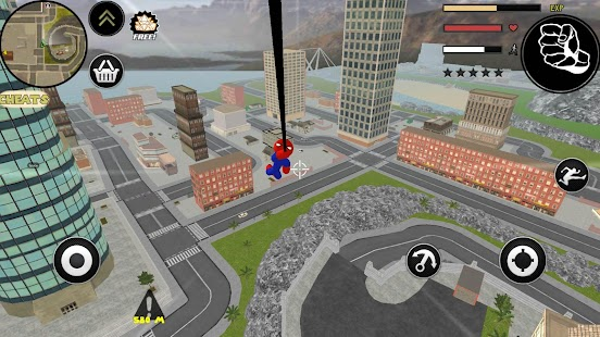 Stickman Spider Rope Hero Gangstar City Screenshot