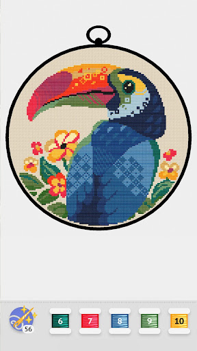 Cross Stitch Club u2014 Color by Numbers with a Hoop 1.4.32 screenshots 7