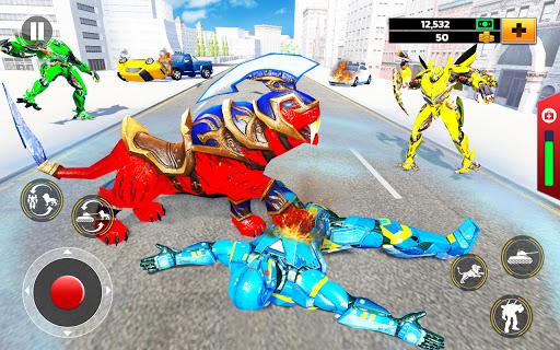 Flying Tank Transform Robot War: Lion Robot Games 10.3.0 Screenshots 8