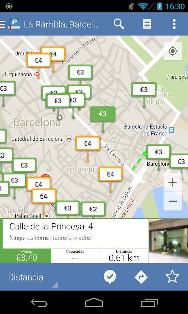 Captura de Pantalla 2 de Parkopedia Estacionamiento para android