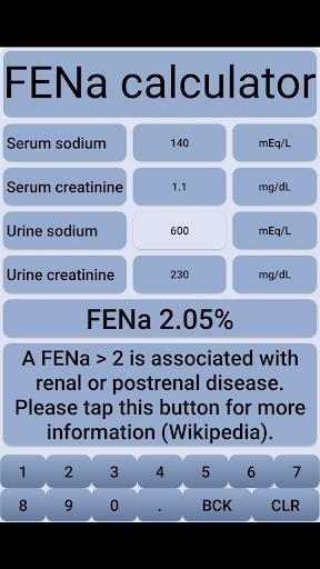 fena - fractional excretion of sodium screenshot 3