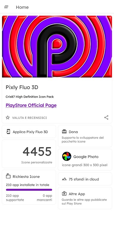 Pixly Fluo 3D - Icon Pack  poster 5
