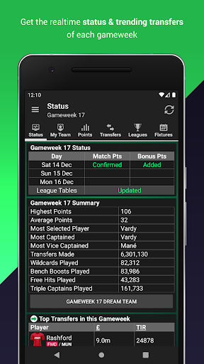 (FPL) Fantasy Football Manager for Premier League android2mod screenshots 4