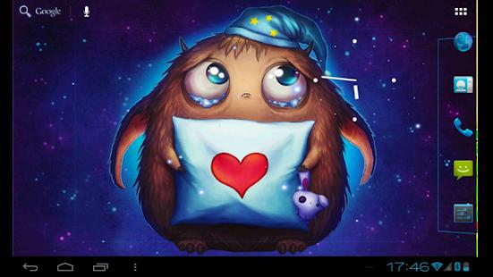 Booboo : Cute little monster Live Wallpaper free