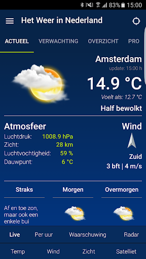 weather in holland: the app screenshot 1