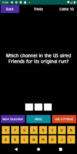 quiz about friends - trivia and quotes screenshot 1