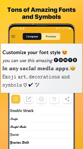 Font Changer - Cool Fonts Keyboard, Stylish Text  Screenshots 1