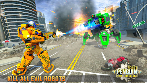 Penguin Robot Car Game: Robot Transforming Games 5 Screenshots 12