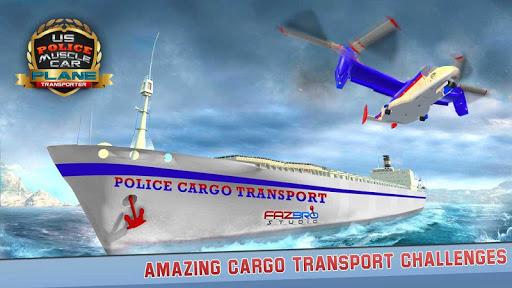 US Police Muscle Car Cargo Plane Flight Simulator 4.7 screenshots 3