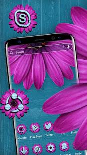 木製のピンクの花のテーマ