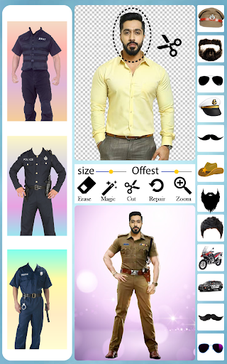 Men Police Suit Photo Editor android2mod screenshots 2
